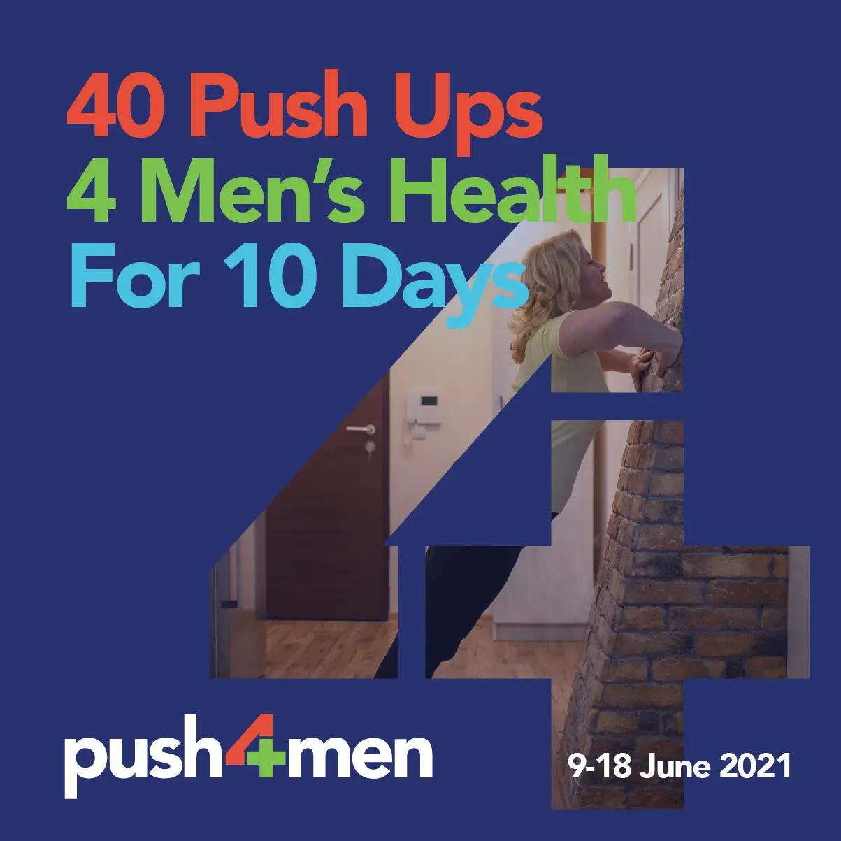 Social Tile - 40 Push Ups 4 Men's Health for 10 Days